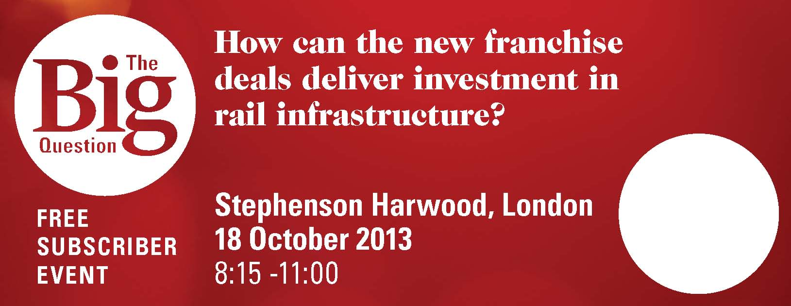 How can the new franchise deals deliver investment in rail infrastructure?