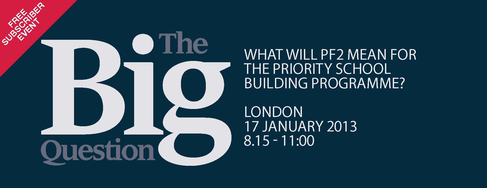 The Big Question - What will PF2 mean for the Priority School Building programme?